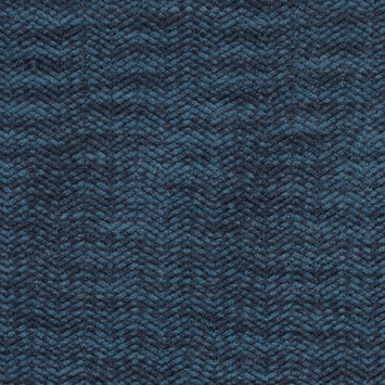 Blue Marbled Wool Knit with Zig Zag Loops