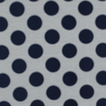 Blue and White Circle Jacquard Mesh