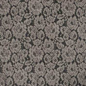 Desert Taupe Tie Dye Floral Cotton Lace
