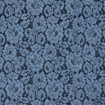 Sky Blue Tie Dye Floral Cotton Lace