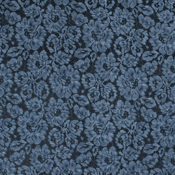 Navy Tie Dye Floral Cotton Lace