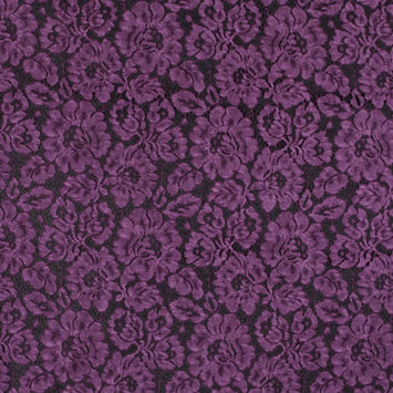 Plum Caspia Tie Dye Floral Cotton Lace