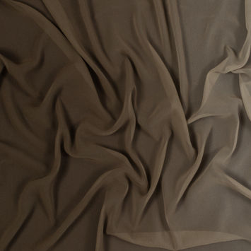 Brown Ombre Polyester Chiffon