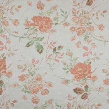 Blush Floral Printed Silk Charmeuse