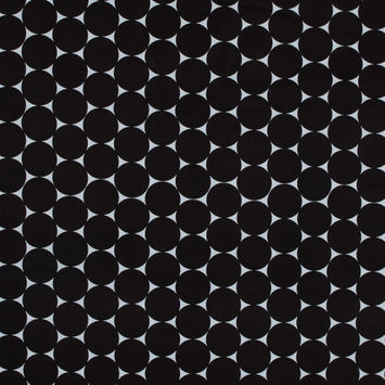 Black and White Polka Dot Stretch Cotton Canvas