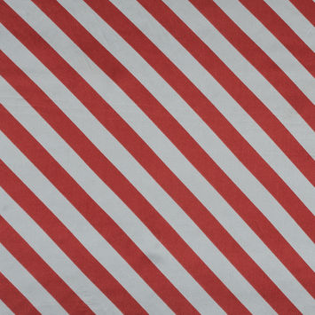 Red and White Regimental Striped Silk Charmeuse