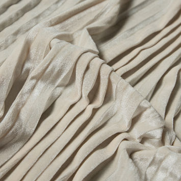 Vanilla Ice Pleated Velour