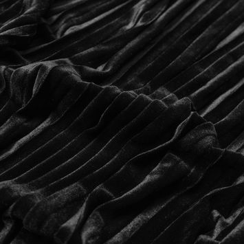 Black Pleated Velour