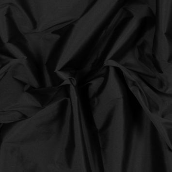 Black Plain Dyed Polyester Taffeta