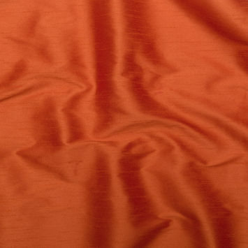 Burnt Orange Polyester Shantung