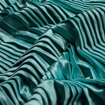 Mint Pleated Stretch Satin