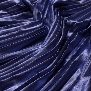Lavender Pleated Stretch Satin