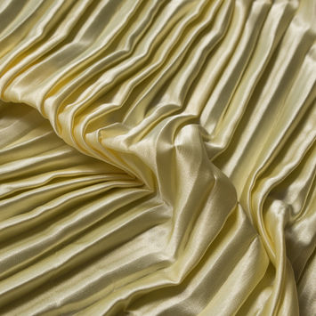 Mellow Yellow Pleated Stretch Satin
