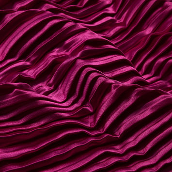 Raspberry Sorbet Pleated Stretch Satin