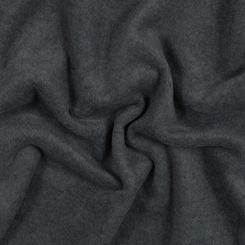 Charcoal Heather No Pill Polyester Fleece