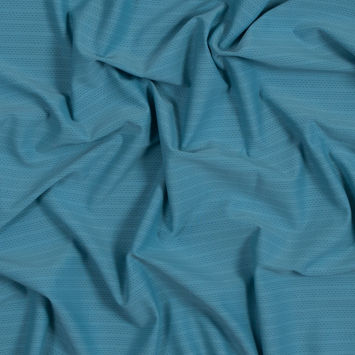 Matte Sky Blue Perforated Polyester Spandex