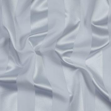 Ultra White Regal Striped Polyester Satin