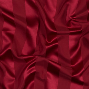 Valentine Red Regal Striped Polyester Satin
