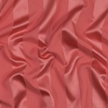 Fiesta Coral Regal Striped Polyester Satin