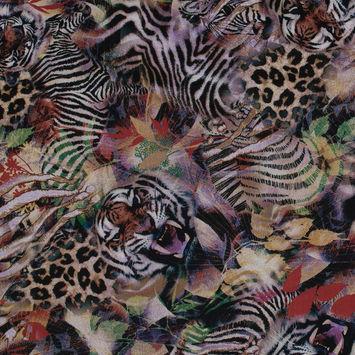 Italian Tiger Printed Stretch Scuba Knit