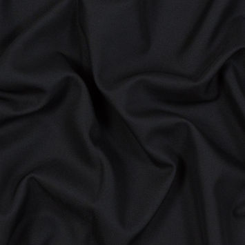 Black Blended Wool Twill
