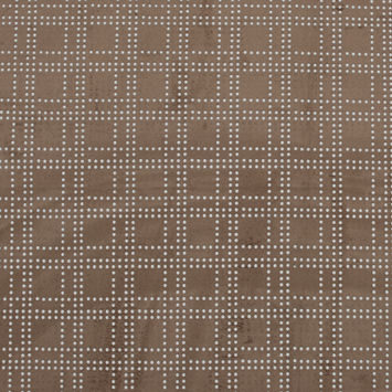 Warm Beige Faux Suede with Perforated Squares