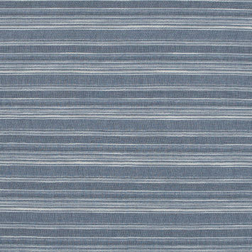 Sky Blue and White Striped Gauzy Cotton Crepe