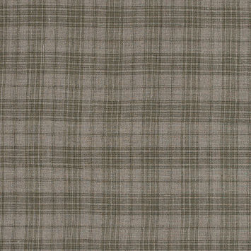 Olive and Taupe Plaid Linen Woven