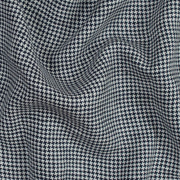 Black and White Houndstooth Linen Woven