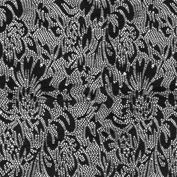 Italian Black Laminated Crochet Lace