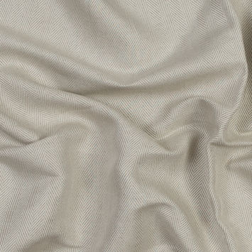 Italian Ecru Herringbone Linen Blend