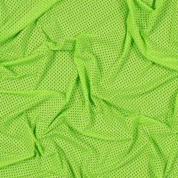 Neon Green Stretch Athletic Mesh