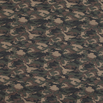 Camouflage Printed Stretch Double Knit