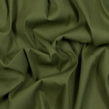 Asturias Olive Stretch Linen Woven