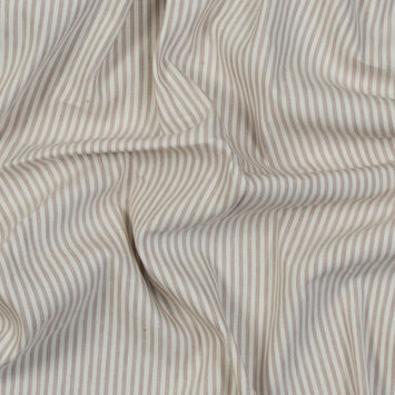 Asturias Striped Natural Stretch Linen Woven