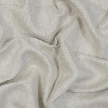 Newhaven Oatmeal Herringbone Linen Woven