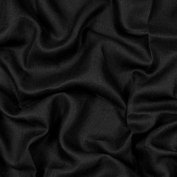 Newhaven Black Herringbone Linen Woven