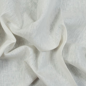 Tivoli White Linen and Rayon Woven