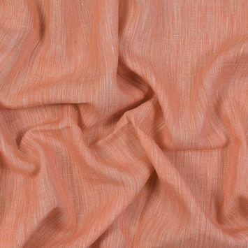 Sanremo Orange and White Two-Tone Linen Woven