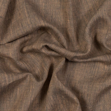 Sanremo Coral and Ash Two-Tone Linen Woven
