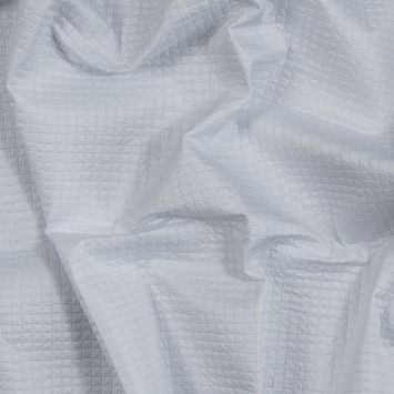 White Square Quilted Polyester Coating