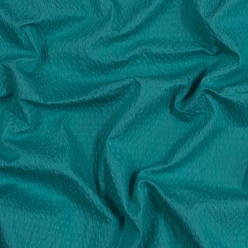 Seafoam Cotton and Polyester Seersucker