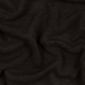 Brown Wool Ribbed Knit with Black Scuba Backing