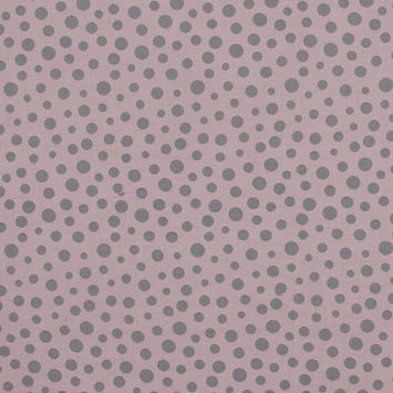 Pink and Gray Circles Cotton Voile