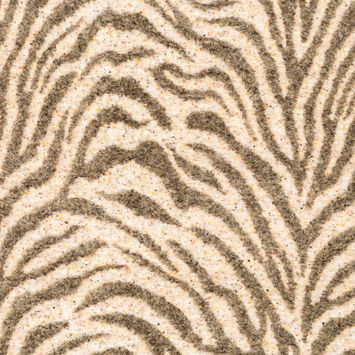 Italian Beige and Brown Zebra Patterned Wool Knit