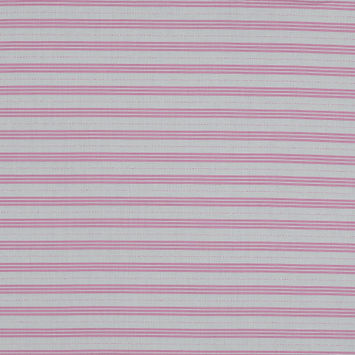 Pink and White Striped Cotton Shirting