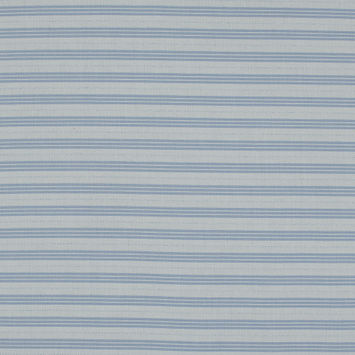 Blue and White Striped Cotton Shirting