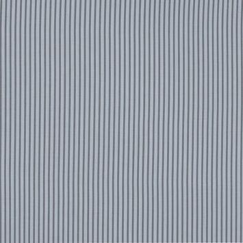 Gray and White Striped Cotton Voile