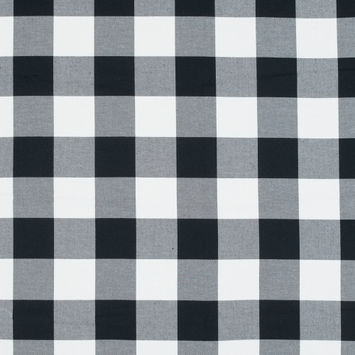 White and Black Buffalo Check Cotton Flannel