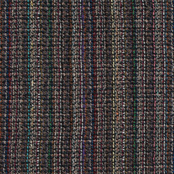 Green, Orange and Blue Loosely Woven Wool Tweed